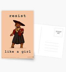 Resist Like a Girl Postcards