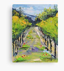 Vineyard winery Carmel California Canvas Print
