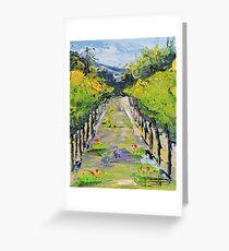 Vineyard winery Carmel California Greeting Card