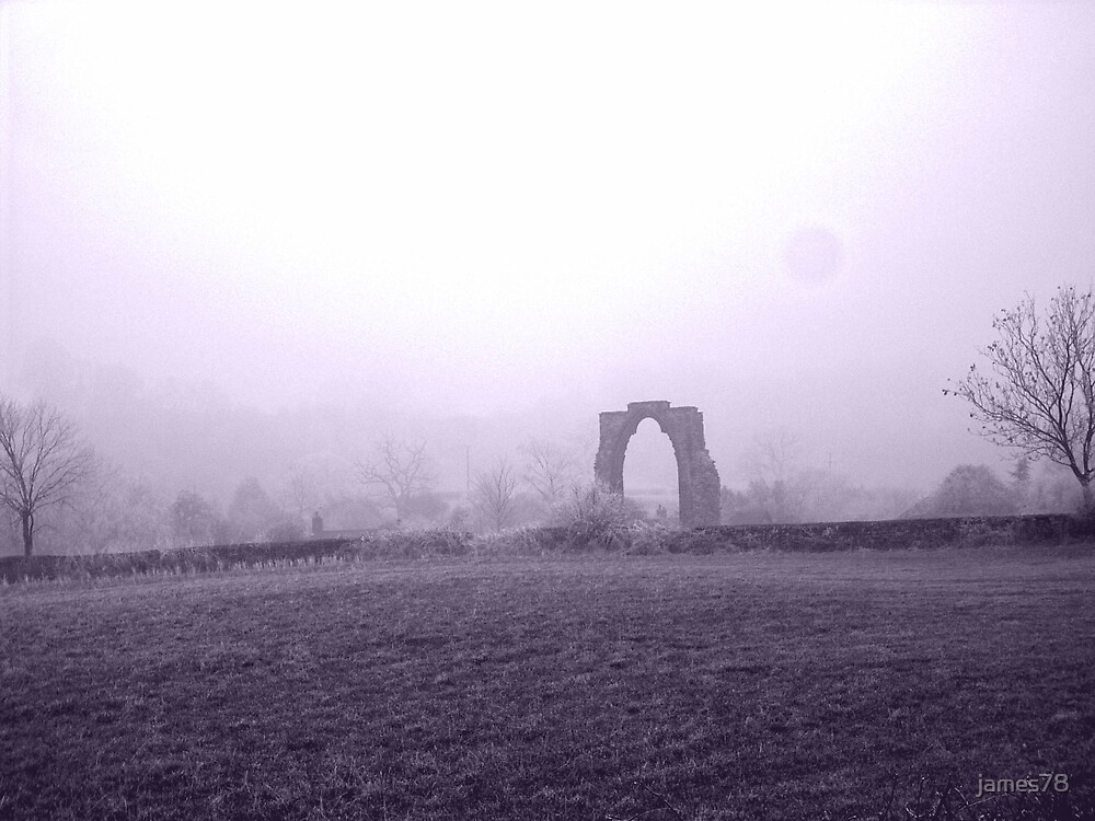 Abbey in the mist by james78