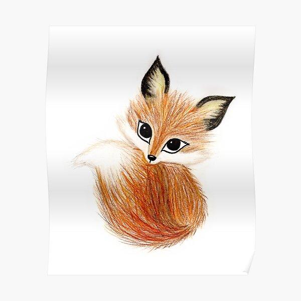 Cute Fox Poster
