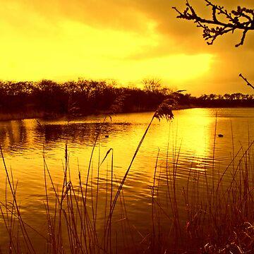Sunset Over The Lake by IanFoss