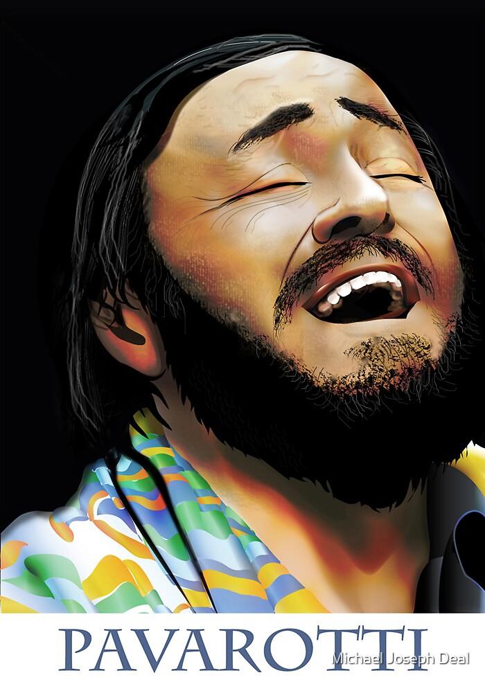 Pavarotti Vector / Photoshop Art by Michael Joseph Deal