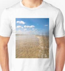Small Wave over Shallow Sandbar – Anastasia State Park, Florida Unisex T-Shirt