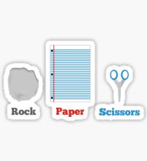 Rock, paper and scissors. Sticker