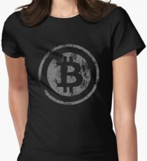 Vintage Bitcoin logo Women's Fitted T-Shirt