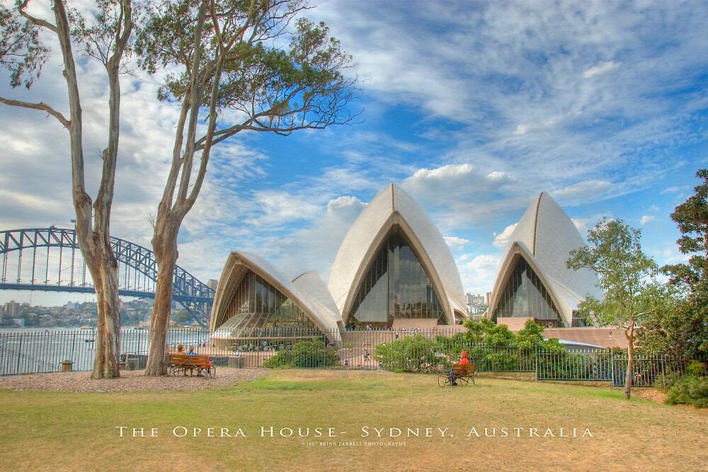 The Opera House - Sydney, Australia (Textured Canvas Finish) by Brian Farrell