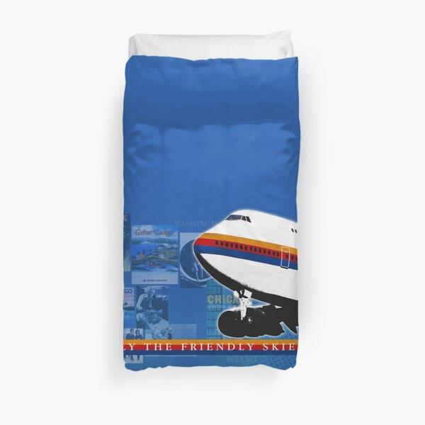 UNITED AIRLINES JUMBO JET Duvet Cover