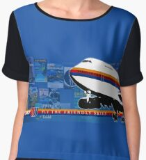 UNITED AIRLINES B747  Women's Chiffon Top
