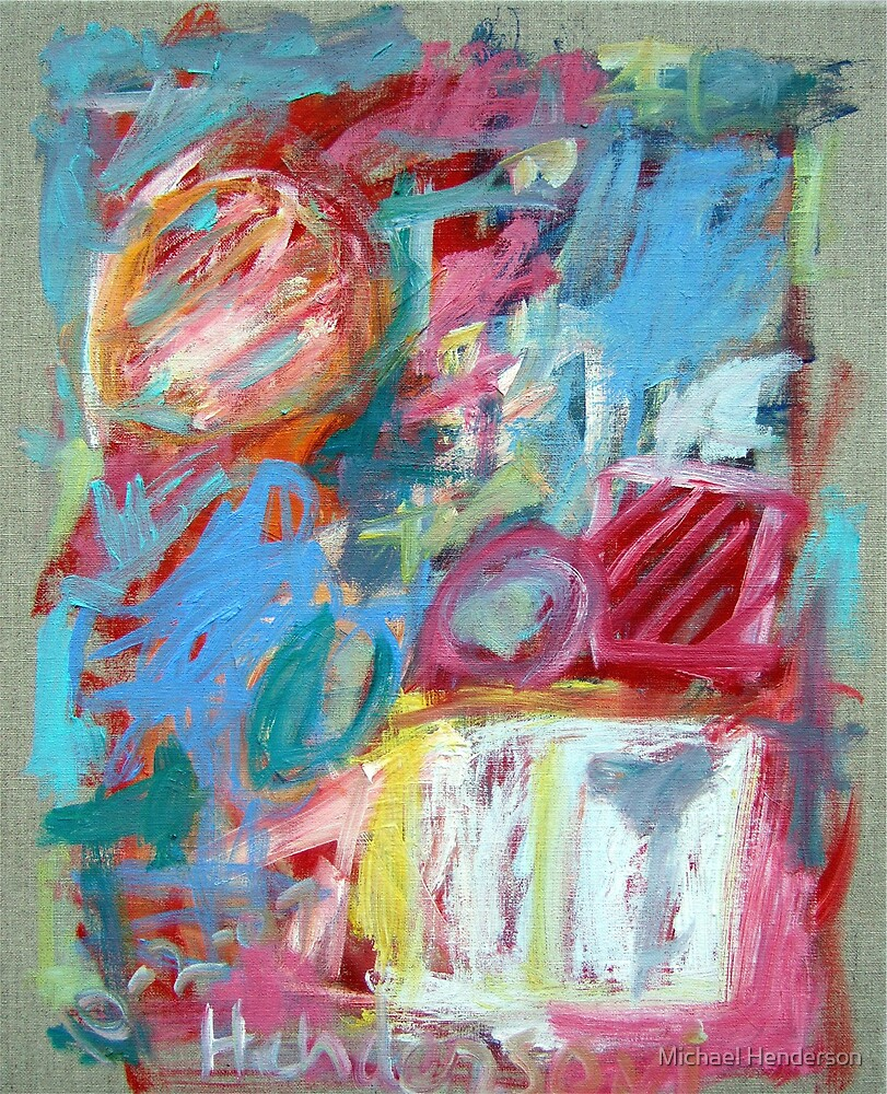 Abstract with White Box by Michael Henderson