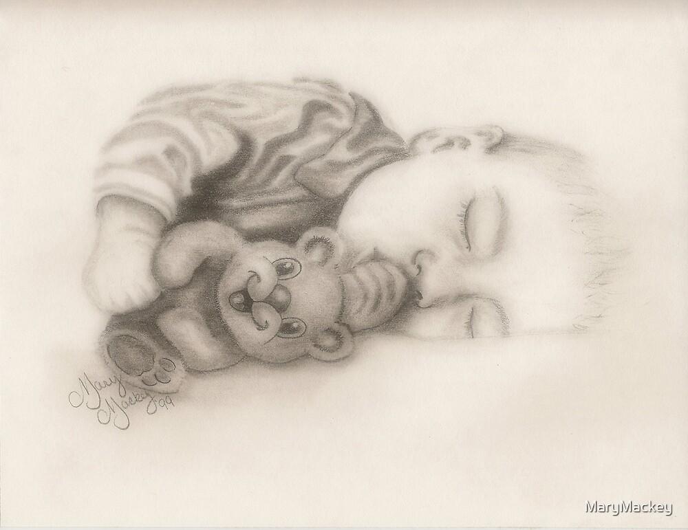 Baby and Bear by MaryMackey
