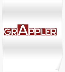 Worlds Okayest Grappler Shirt Poster