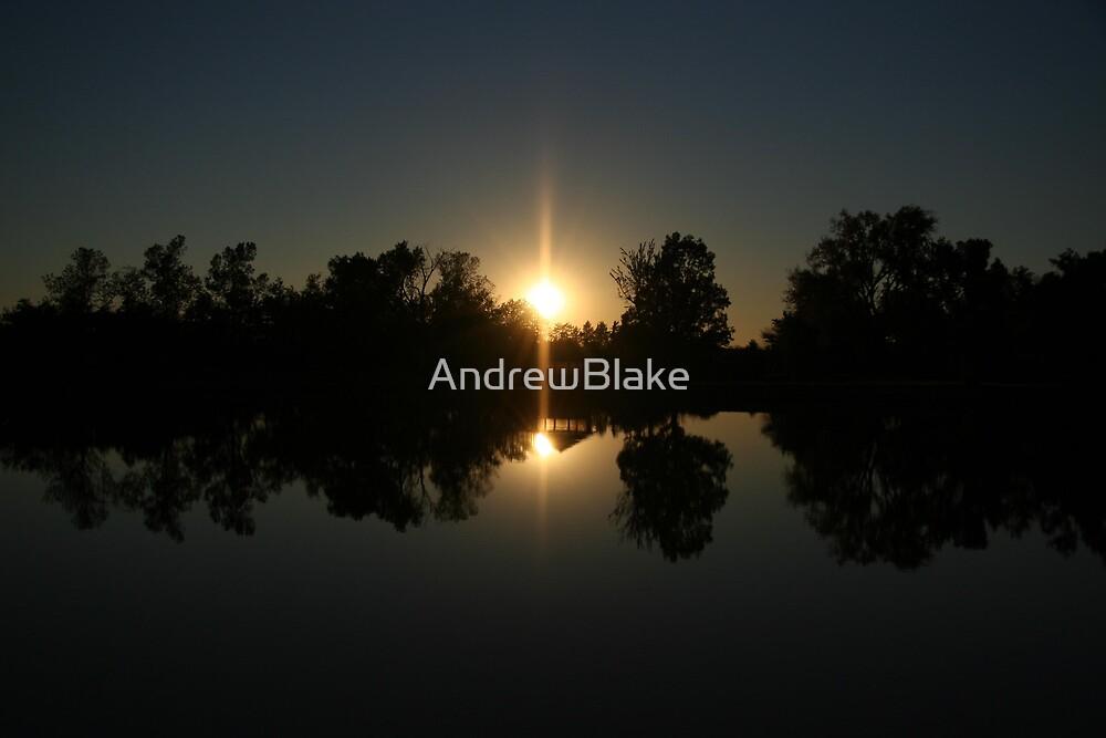 Lake reflection at sunset by AndrewBlake