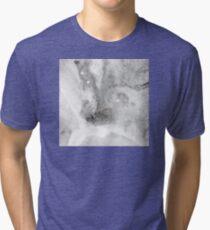 Black Ink Marble Tri-blend T-Shirt