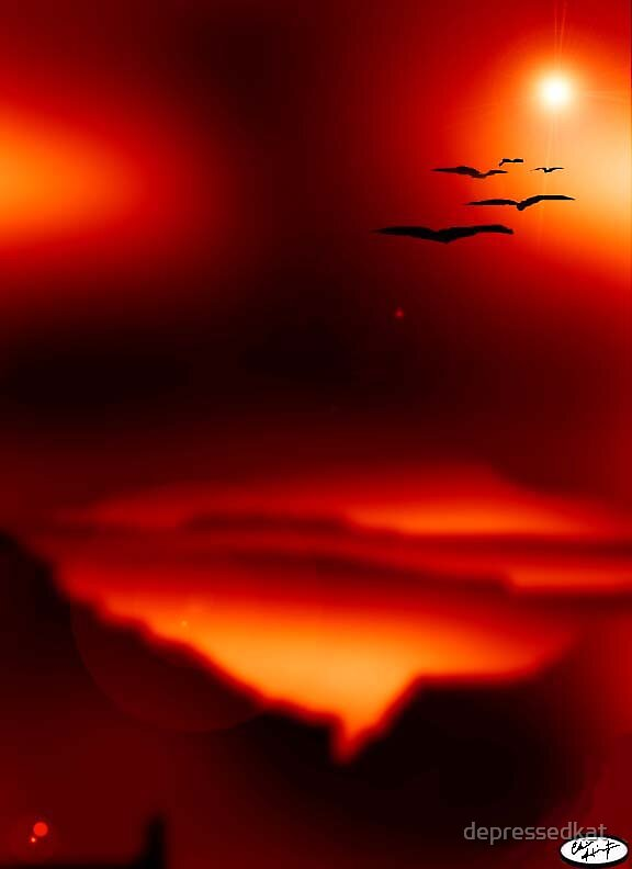 Airbrushed Lava World by depressedkat