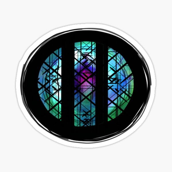 A Pop Opera: Stained Glass (circular) Sticker