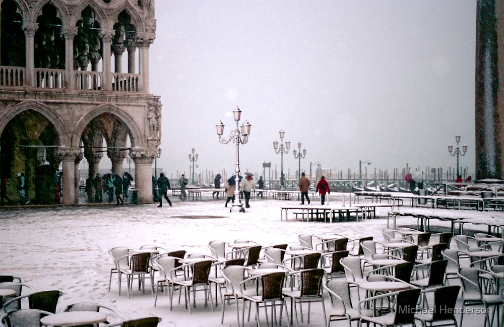 Piazzetta San Marco in the Snow by Michael Henderson