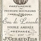 Vintage French Perfume Label by mindydidit