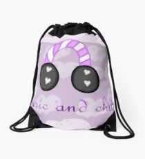 Music and Chill Drawstring Bag