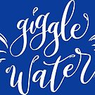 Giggle Water Hand Letter White Design by DoubleBrush