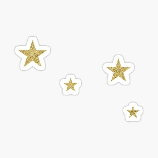 goldene Sterne Sticker