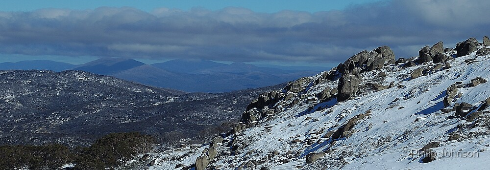 Snowy Mountain High - Mount Crackenback, NSW Australia by Philip Johnson