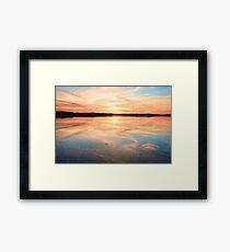 Long Jetty sunset Australia seascape Framed Print