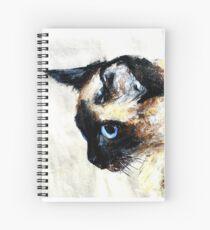 Cuaderno de espiral Acrílicos de gato siamés en papel