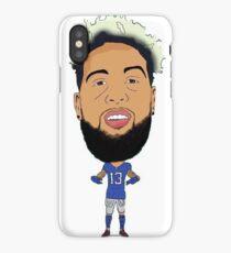 Odell Beckham Jr. Football Cartoon iPhone Case