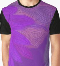 Purple Floral Light Graphic T-Shirt