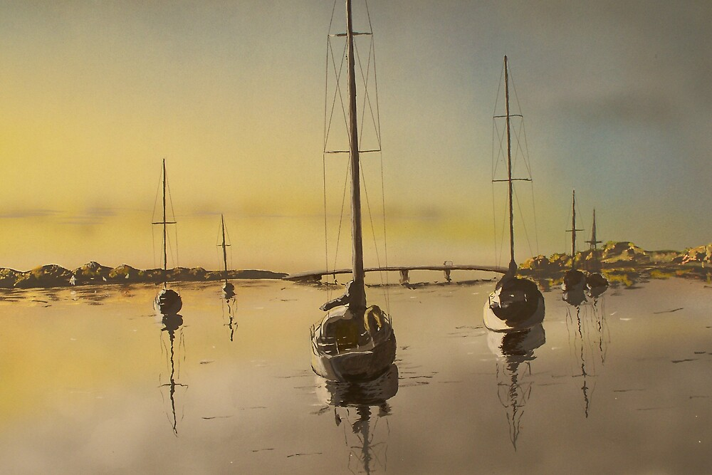 sturgeon bay sunrise by srwelch