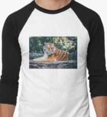 Tigre low poly Men's Baseball ¾ T-Shirt