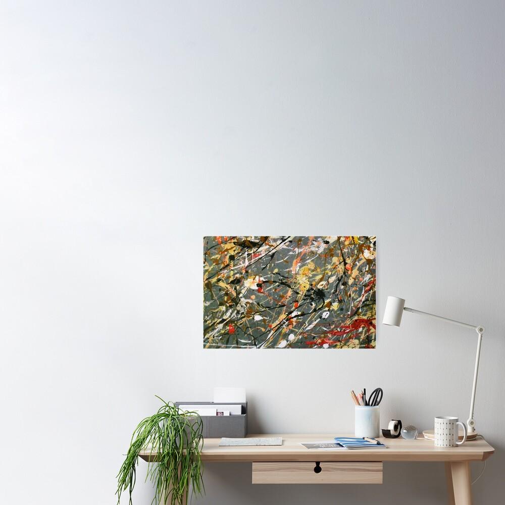 Jackson Pollock Interpretation Acrylics on Canvas Poster
