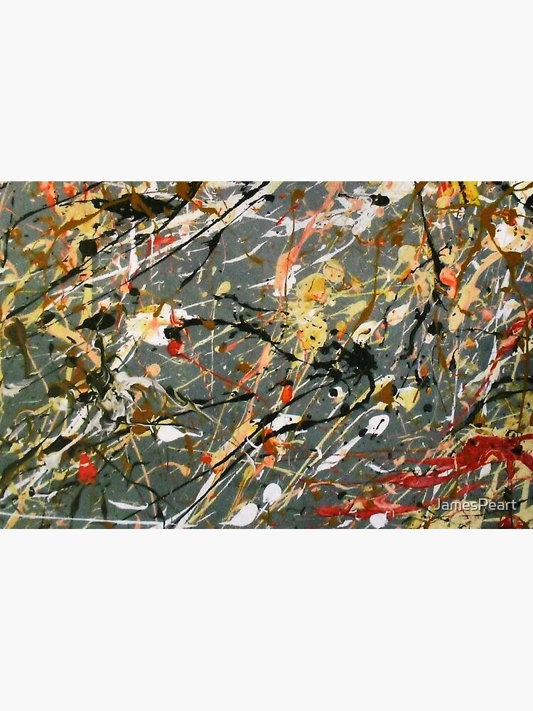 Jackson Pollock Interpretation Acrylics on Canvas by JamesPeart