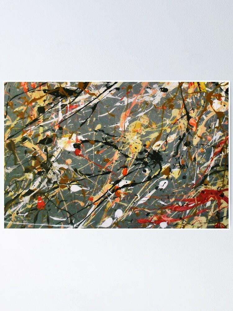 Alternate view of Jackson Pollock Interpretation Acrylics on Canvas Poster