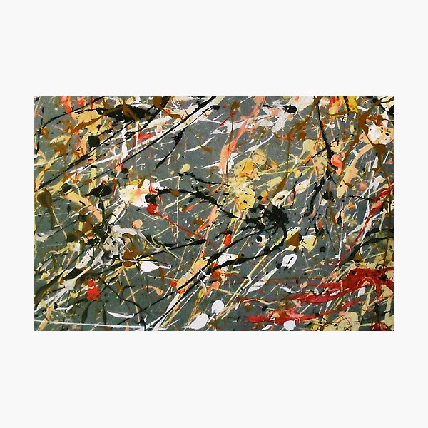 Jackson Pollock Interpretation Acrylics on Canvas Photographic Print