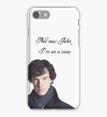 """I'm on a case"", Sherlock iPhone Case/Skin"