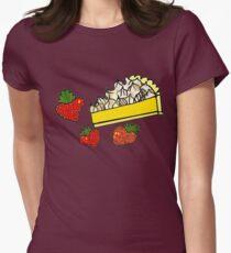 lemon&strawberry meringue pie Womens Fitted T-Shirt