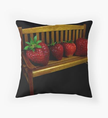Mom, Pop And The Kids Throw Pillow