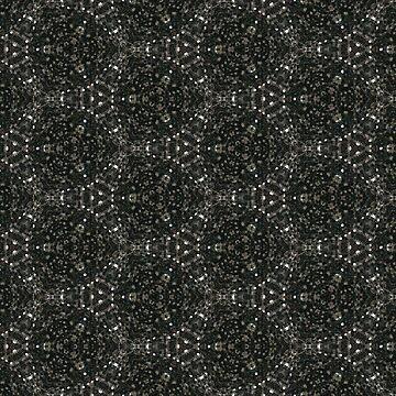 Sage and Gray Beautiful Kaleidoscope Pattern by turtlebird