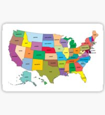 Map of the US states Sticker