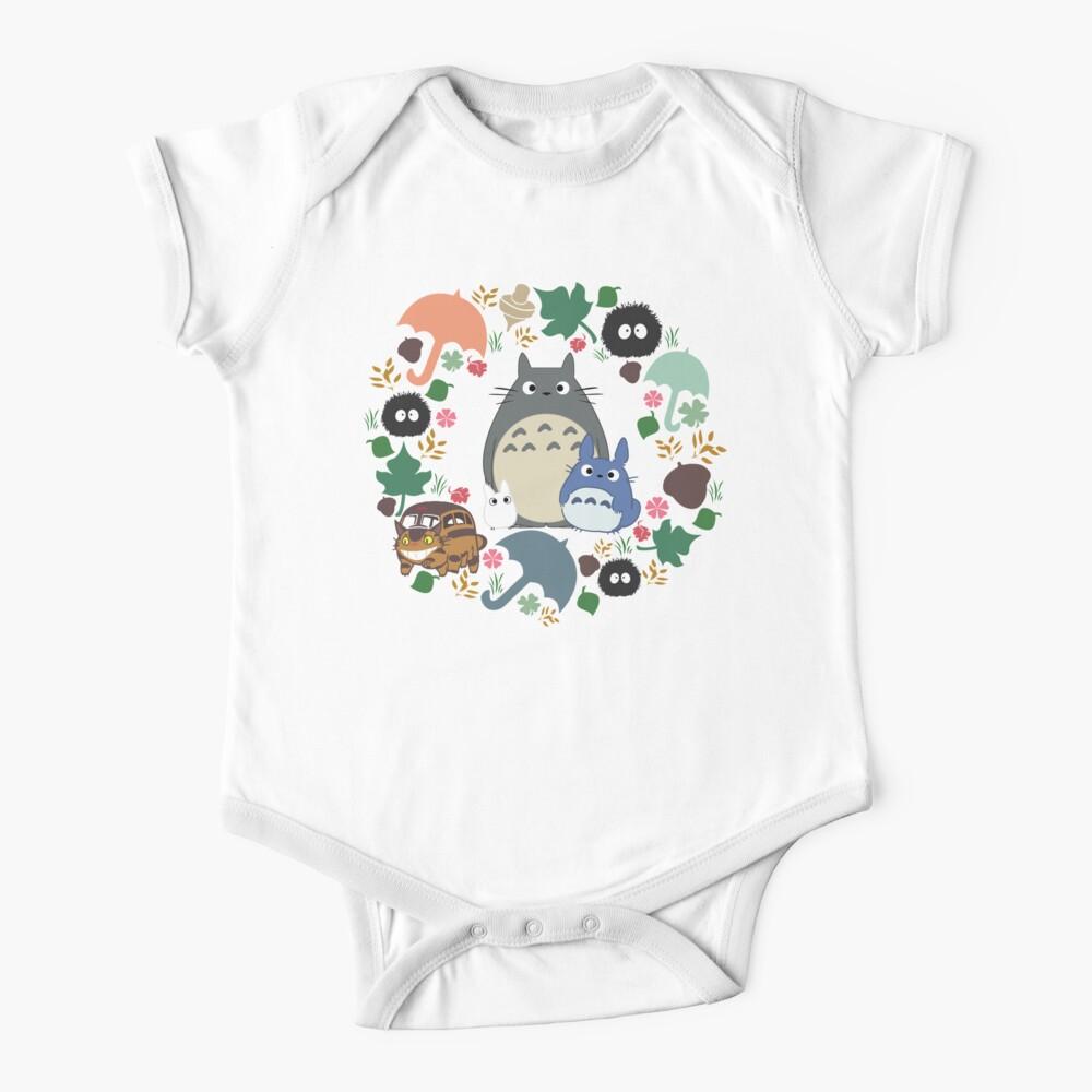 Mein Nachbar Totoro Kranz - Anime, Catbus, Ruß Sprite, Blau Totoro, Weiß Totoro, Senf, Ocker, Regenschirm, Manga, Hayao Miyazaki, Studio Ghibl Baby Body