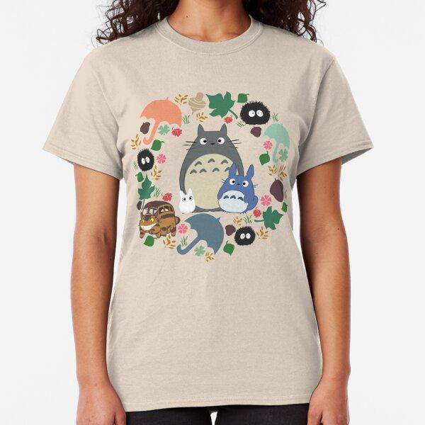 My Neighbor Troll Wreath - Anime, Catbus, Soot Sprite, Blue, White, Mustard, Ochre, Umbrella, Manga, Hayao Miyazaki Classic T-Shirt