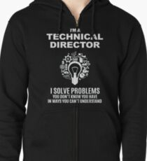 TECHNICAL DIRECTOR - SOLVE PROBLEMS WHITE Zipped Hoodie