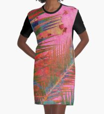 Palm leaves for Frida  Graphic T-Shirt Dress