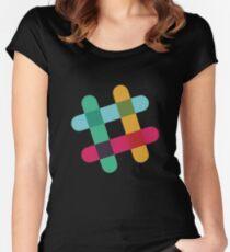 Slack Logo Women's Fitted Scoop T-Shirt