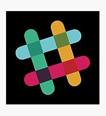 Slack logo Photographic Print