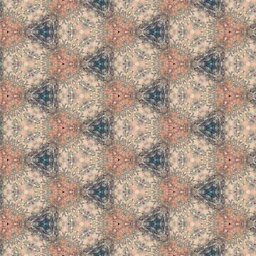Tan, peach, and teal shell Kaleidoscope Pattern by turtlebird