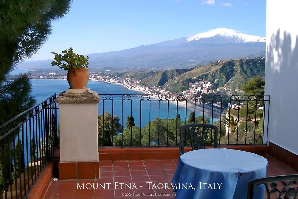 Mount Etna - Taormina, Sicily (Dry Brush Finish) by Brian Farrell