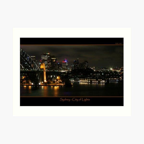 Sydney - City of Lights Art Print